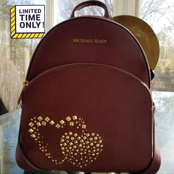 Michael Kors Bags   Last Day Abbey Heart Backpack   Poshmark 84ce63c0ed